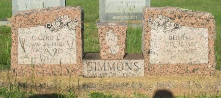 SIMMONS, BERTHA - Cass County, Texas | BERTHA SIMMONS - Texas Gravestone Photos