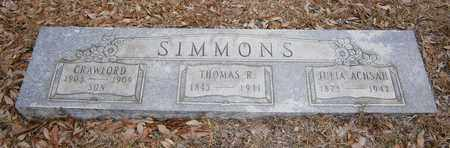 SIMMONS, THOMAS R - Cass County, Texas | THOMAS R SIMMONS - Texas Gravestone Photos