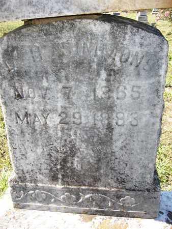 SIMMONS, D H - Cass County, Texas | D H SIMMONS - Texas Gravestone Photos