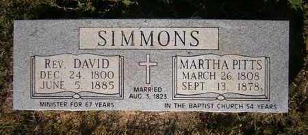 SIMMONS, DAVID, REV - Cass County, Texas | DAVID, REV SIMMONS - Texas Gravestone Photos