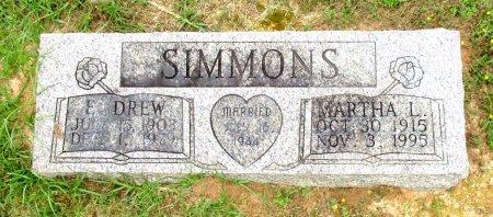SIMMONS, E. DREW - Cass County, Texas | E. DREW SIMMONS - Texas Gravestone Photos
