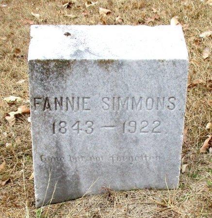 SIMMONS, FANNIE - Cass County, Texas | FANNIE SIMMONS - Texas Gravestone Photos
