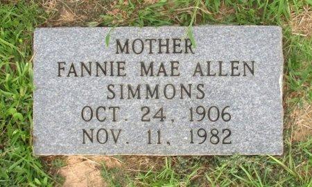 SIMMONS, FANNIE MAE - Cass County, Texas | FANNIE MAE SIMMONS - Texas Gravestone Photos