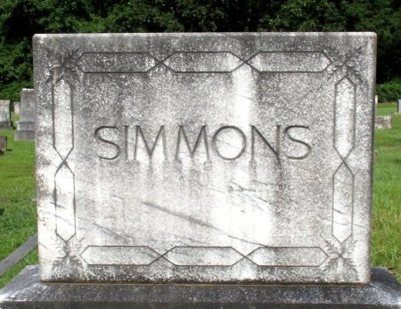 SIMMONS, FAMILY MARKER - Cass County, Texas | FAMILY MARKER SIMMONS - Texas Gravestone Photos