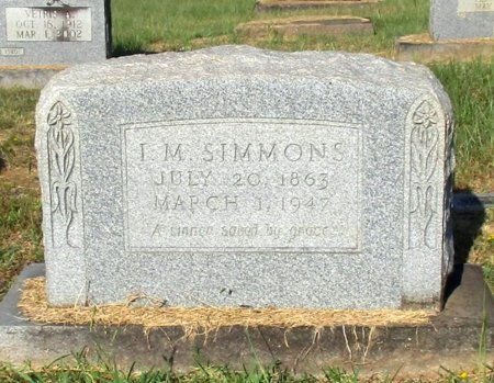 SIMMONS, I. M. - Cass County, Texas | I. M. SIMMONS - Texas Gravestone Photos