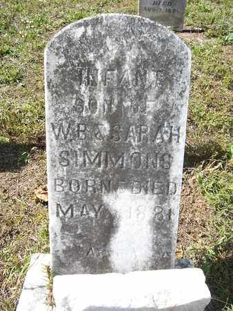 SIMMONS, INFANT SON - Cass County, Texas | INFANT SON SIMMONS - Texas Gravestone Photos