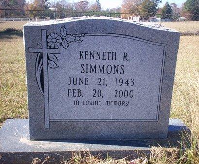 SIMMONS, KENNETH R - Cass County, Texas | KENNETH R SIMMONS - Texas Gravestone Photos