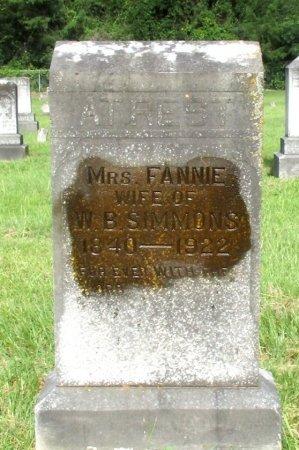 SIMMONS, FANNIE, MRS. - Cass County, Texas | FANNIE, MRS. SIMMONS - Texas Gravestone Photos