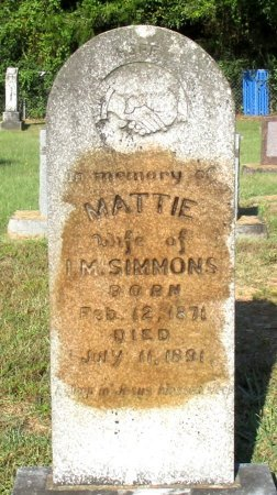 SIMMONS, MATTIE - Cass County, Texas | MATTIE SIMMONS - Texas Gravestone Photos