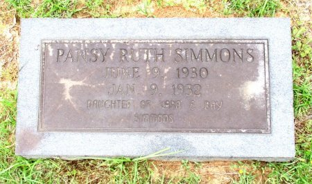 SIMMONS, PANSY RUTH  - Cass County, Texas | PANSY RUTH  SIMMONS - Texas Gravestone Photos