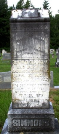 SIMMONS, W. B., REV - Cass County, Texas   W. B., REV SIMMONS - Texas Gravestone Photos