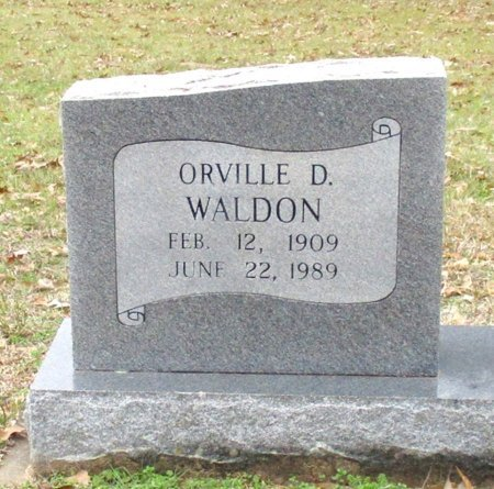 WALDON, ORVILLE D (CLOSE UP) - Cass County, Texas | ORVILLE D (CLOSE UP) WALDON - Texas Gravestone Photos