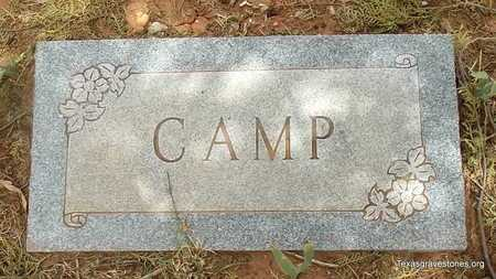 CAMP FAMILY MARKER,  - Childress County, Texas |  CAMP FAMILY MARKER - Texas Gravestone Photos