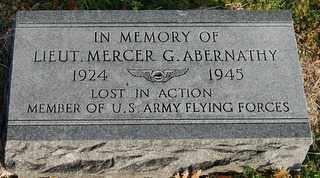 ABERNATHY (VETERAN WWII), MERCER G - Collin County, Texas   MERCER G ABERNATHY (VETERAN WWII) - Texas Gravestone Photos