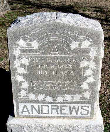 ANDREWS, MOSES E. - Collin County, Texas | MOSES E. ANDREWS - Texas Gravestone Photos