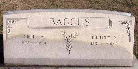 BACCUS, MINTIE A. - Collin County, Texas | MINTIE A. BACCUS - Texas Gravestone Photos