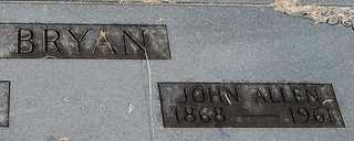 BRYAN, JOHN ALLEN - Collin County, Texas | JOHN ALLEN BRYAN - Texas Gravestone Photos