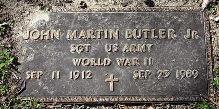 BUTLER JR (VETERAN WWII), JOHN MARTIN - Collin County, Texas | JOHN MARTIN BUTLER JR (VETERAN WWII) - Texas Gravestone Photos