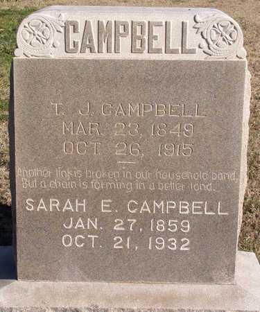 CAMPBELL, SARAH E. - Collin County, Texas | SARAH E. CAMPBELL - Texas Gravestone Photos