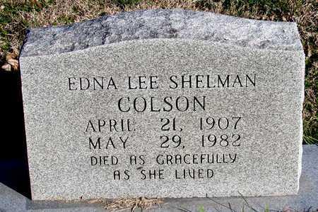SHELMAN COLSON, EDNA LEE - Collin County, Texas | EDNA LEE SHELMAN COLSON - Texas Gravestone Photos