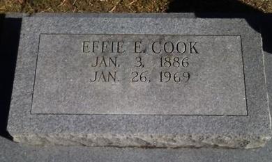 COOK, EFFIE E. - Collin County, Texas | EFFIE E. COOK - Texas Gravestone Photos