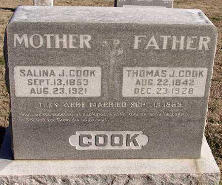 COOK, SALINA J. - Collin County, Texas | SALINA J. COOK - Texas Gravestone Photos