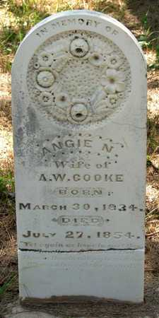 COOKE, ANGIE N. - Collin County, Texas | ANGIE N. COOKE - Texas Gravestone Photos