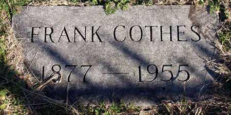 COTHES, FRANK - Collin County, Texas | FRANK COTHES - Texas Gravestone Photos