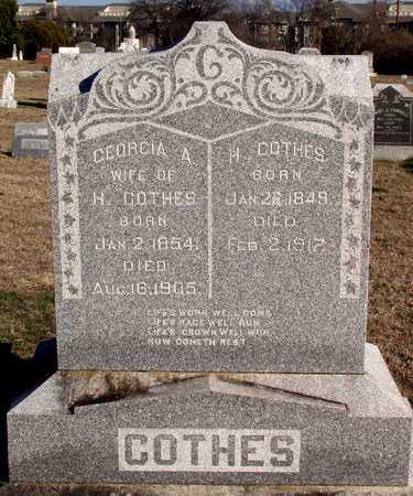 COTHES, GEORGIA A. - Collin County, Texas | GEORGIA A. COTHES - Texas Gravestone Photos