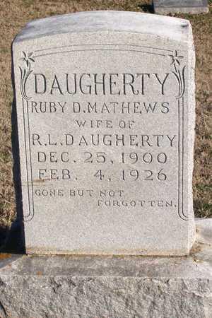 MATHEWS DAUGHERTY, RUBY D. - Collin County, Texas | RUBY D. MATHEWS DAUGHERTY - Texas Gravestone Photos