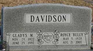 DAVIDSON, ROYCE 'BULLY' - Collin County, Texas | ROYCE 'BULLY' DAVIDSON - Texas Gravestone Photos