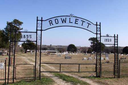*ENTRANCE, ROWLETT CEMETERY - Collin County, Texas | ROWLETT CEMETERY *ENTRANCE - Texas Gravestone Photos
