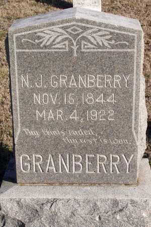 GRANBERRY, N. J. - Collin County, Texas   N. J. GRANBERRY - Texas Gravestone Photos
