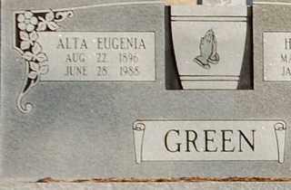 GREEN, ALTA EUGENIA - Collin County, Texas | ALTA EUGENIA GREEN - Texas Gravestone Photos