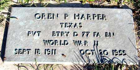 HARPER (VETERAN WWII), OREN P - Collin County, Texas | OREN P HARPER (VETERAN WWII) - Texas Gravestone Photos