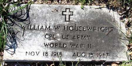 HOUSEWRIGHT (VETERAN WWII), WILLIAM W - Collin County, Texas   WILLIAM W HOUSEWRIGHT (VETERAN WWII) - Texas Gravestone Photos