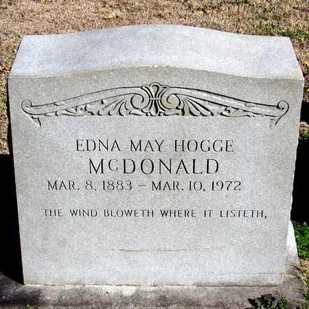 MCDONALD, EDNA MAY - Collin County, Texas | EDNA MAY MCDONALD - Texas Gravestone Photos