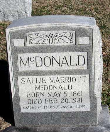 MCDONALD, SALLIE - Collin County, Texas   SALLIE MCDONALD - Texas Gravestone Photos