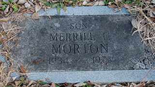 MORTON, MERRILL FRANCIS - Collin County, Texas | MERRILL FRANCIS MORTON - Texas Gravestone Photos