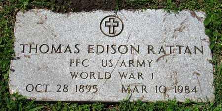 RATTAN (VETERAN WWI), THOMAS EDISON - Collin County, Texas | THOMAS EDISON RATTAN (VETERAN WWI) - Texas Gravestone Photos