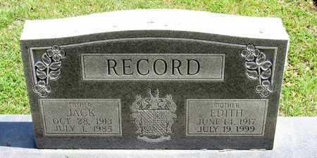 RECORD, JACK - Collin County, Texas | JACK RECORD - Texas Gravestone Photos