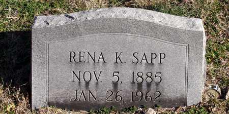 SAPP, RENA K. - Collin County, Texas | RENA K. SAPP - Texas Gravestone Photos