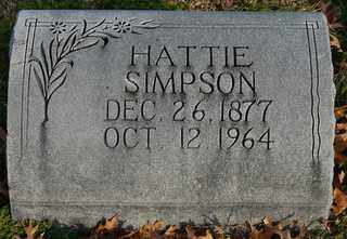 SIMPSON, HATTIE - Collin County, Texas | HATTIE SIMPSON - Texas Gravestone Photos