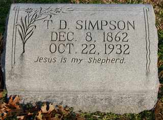 SIMPSON, T.D. - Collin County, Texas | T.D. SIMPSON - Texas Gravestone Photos