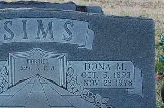 SIMS, DONA M - Collin County, Texas | DONA M SIMS - Texas Gravestone Photos