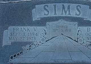 SIMS, FRANK V - Collin County, Texas | FRANK V SIMS - Texas Gravestone Photos