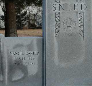 CARTER SNEED, NANCIE - Collin County, Texas | NANCIE CARTER SNEED - Texas Gravestone Photos