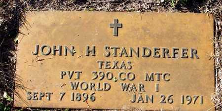 STANDERFER (VETERAN WWI), JOHN H - Collin County, Texas   JOHN H STANDERFER (VETERAN WWI) - Texas Gravestone Photos