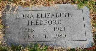 THEDFORD, EDNA ELIZABETH - Collin County, Texas | EDNA ELIZABETH THEDFORD - Texas Gravestone Photos