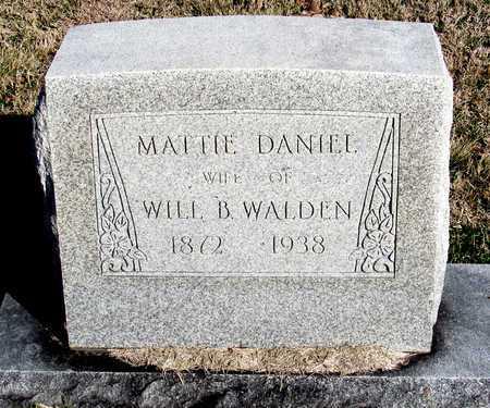 WALDEN, MATTIE - Collin County, Texas | MATTIE WALDEN - Texas Gravestone Photos